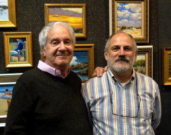 Howard Rose (an astounding mentor and teacher) and Al Trapani (a fantastic gallery owner, art and town supporter, and wonderful boss).
