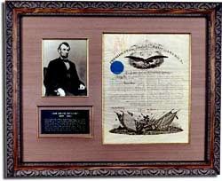 Lincoln photo and letter.