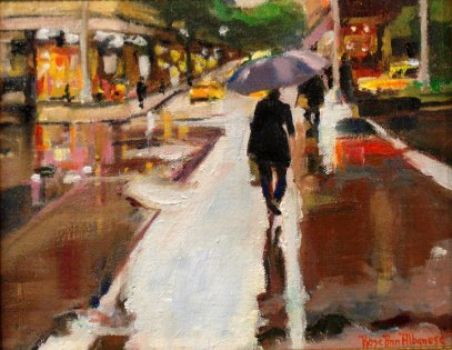 "Rose-Ann Albanese's ""Taking A Stroll"".  SOLD"