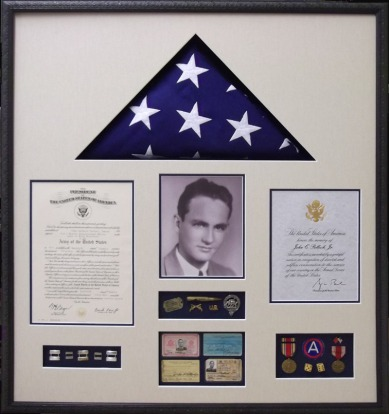 MILITARY MEDALS, AWARDS, MEMORIAL FLAG