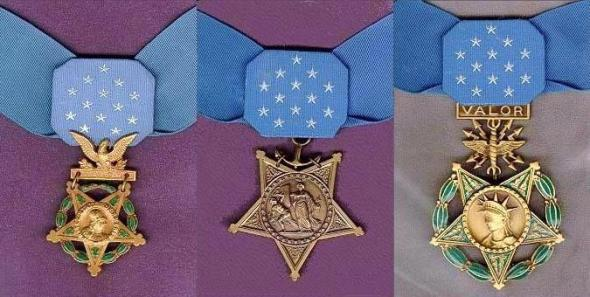 MEDALS OF HONOR ARMY, NAVY, AND AIR FORCE