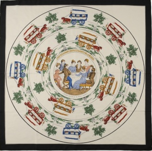 Jeu des Omnibus et Dames Blanches (the first Hermes scarf).
